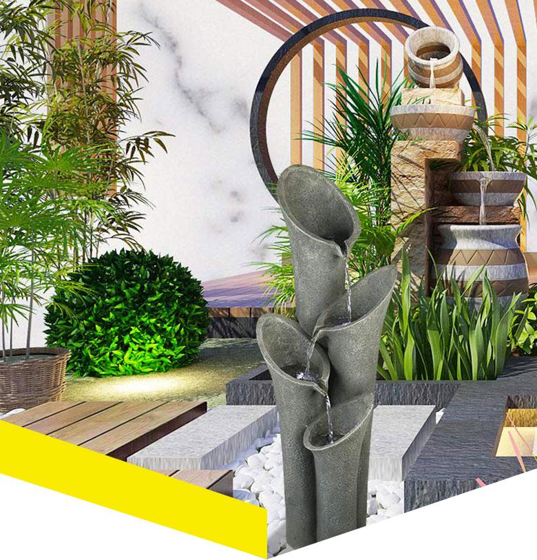 meuble jardin deco plantes